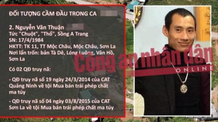Chân dung trùm ma túy Nguyễn Văn Thuận. Ảnh: CAND.