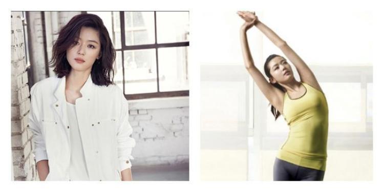 Tập thể dục đều đặn là bí quyết duy trì vóc dáng của người đẹp.