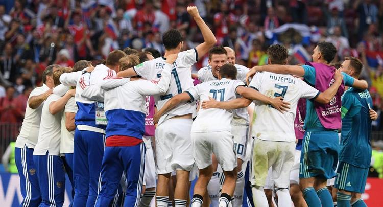 Sau trận thắng của đội tuyển Nga, ông Putin gọi điện cho nhà vua Tây Ban Nha. (Ảnh: RIA Novosti)