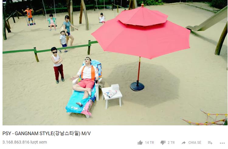 Phát hành năm 2012, Gangnam Style bất ngờ trở thành hiện tương toàn cầu, thiết lập kỉ lục MV được xem nhiều nhất hành tinh trên Youtube. Cho đến nay, vẫn chưa có MV nào phá vỡ thành tích này.