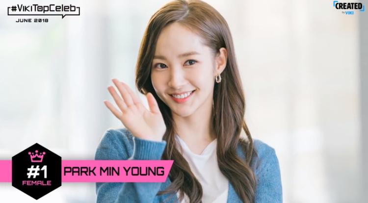 Park Min Young hạng 1 cho ngôi sao nữ.