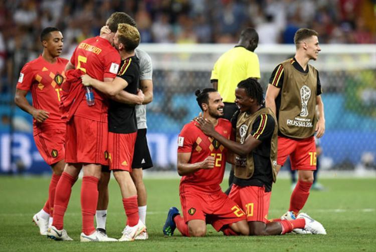 ĐT Bỉ sẽ chạm trán Brazil ở tứ kết. Ảnh: Getty.