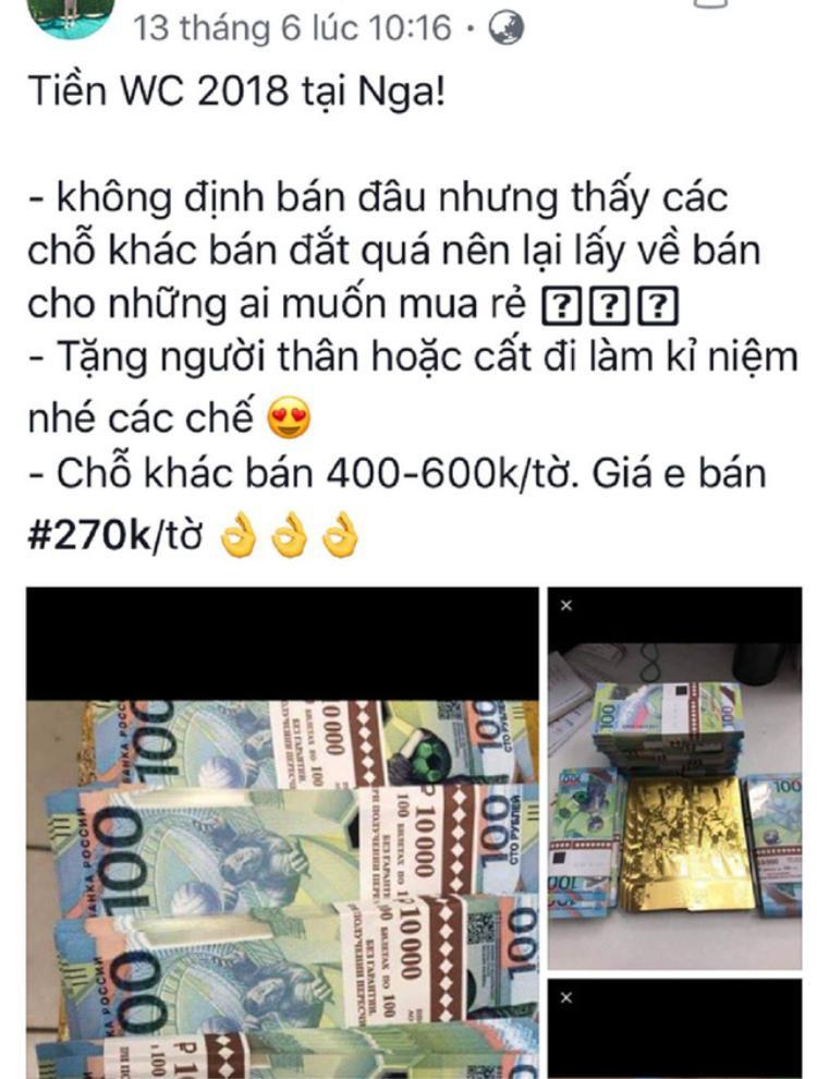 Buôn tiền 100 rúp đang trở thành trào lưu, được rao bán ở facebook của các du học sinh.