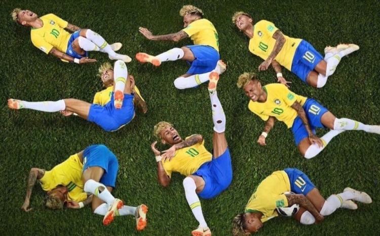 Bộ sưu tập những cú ngã: Phiên bản Neymar!