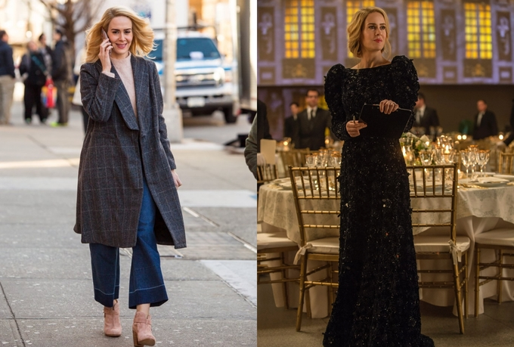 Trong phi vụ cướp này, cô đóng giả trợ lý thời trang và làm việc trong đại bản doanh của tạp chí Vogue. Do đó, trang phục dành cho Sarah gồm toàn món cơ bản, chuẩn mực của dân văn phòng với quần ống rộng, áo khoác tối giản. Ngay cả đầm dự tiệc của cô cũng mang nét nghiêm túc, thanh lịch.