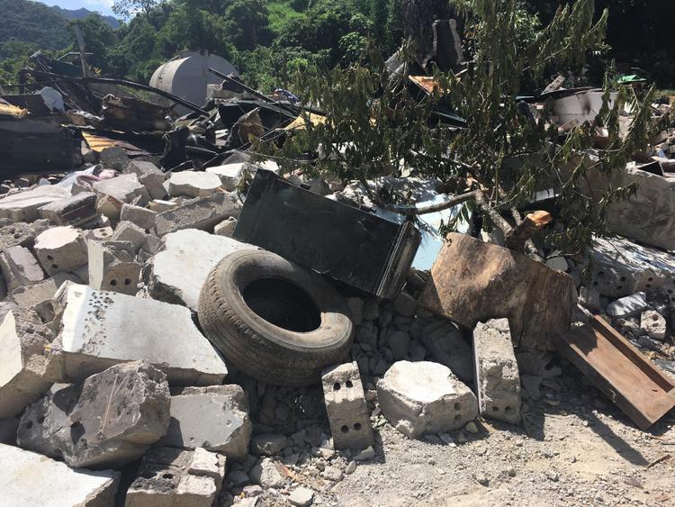 Hiện, căn nhà của Nguyễn Thanh Tuân đã bị lực lượng chức năng đánh sập, san lấp.