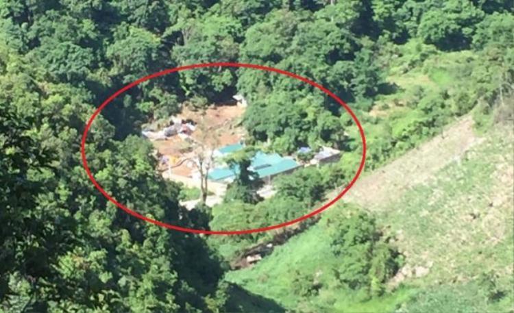 Khu nhà kiên cố được Nguyễn Thanh Tuân xây dựng trước đó. Ảnh: Vietnamnet.