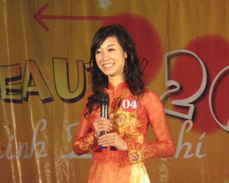 Phương Thanh sinh năm 1990 là hoa khôi đầu tiên của cuộc thi Tài sắc nữ sinh Báo chí - Press Beauty được tổ chức vào năm 2010