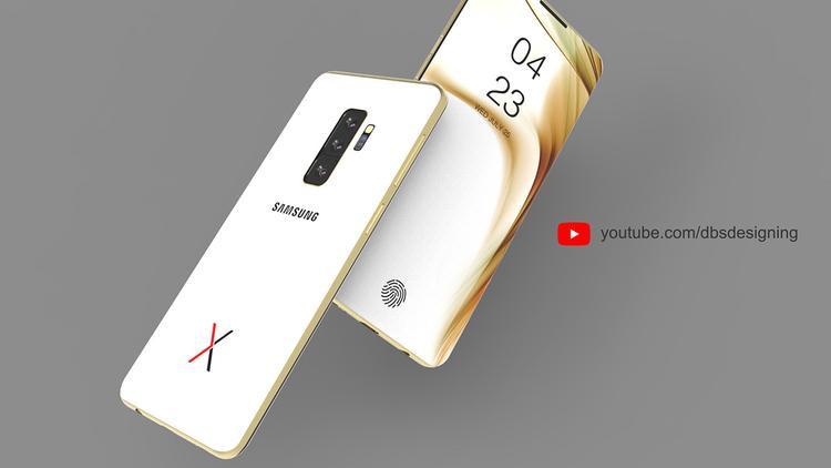 Phiên bản Samsung Galaxy X màu trắng khá đặc biệt khi được trang bị khung sườn màu vàng. Một sự kết hợp khá thú vị và trang nhã.