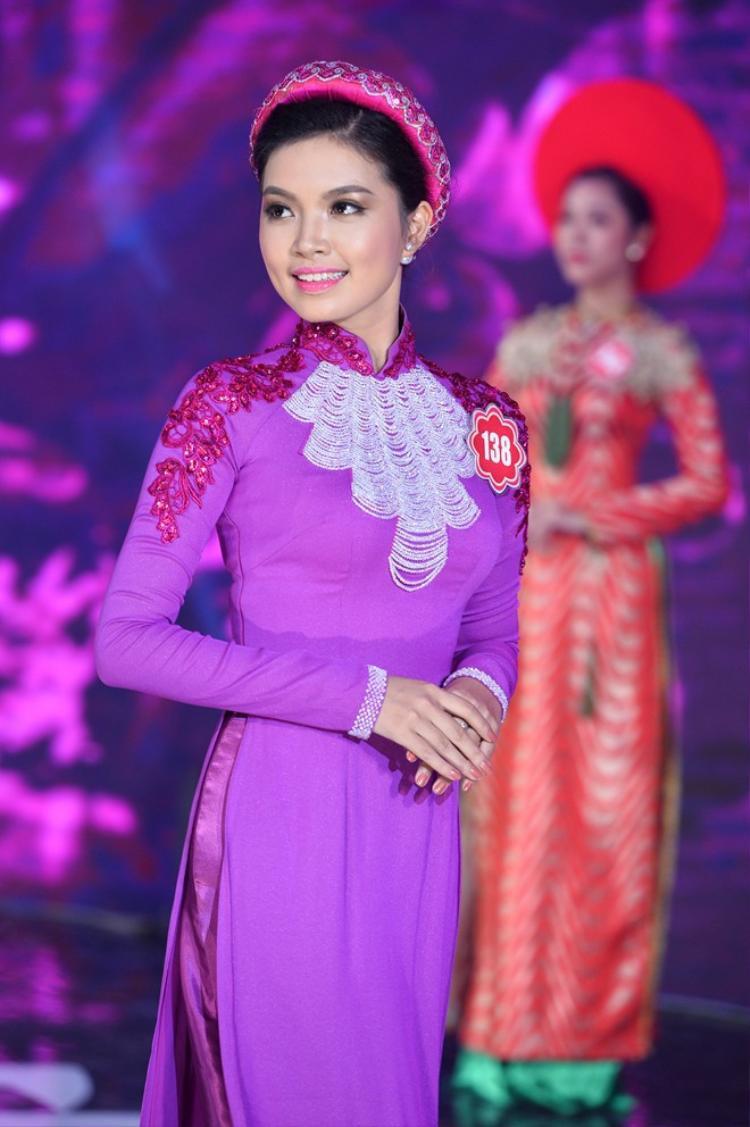Cô gái này cũng đang là một trong 20 người đẹp trong cuộc thi Hoa hậu Việt Nam 2014.