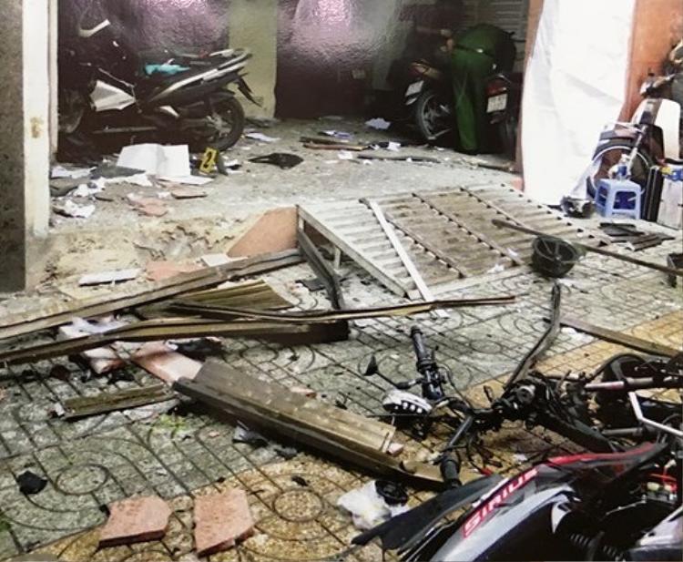 Hiện trường vụ nổ tại Công an phường 12