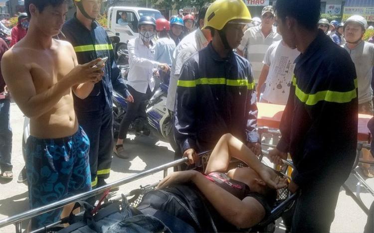 Lương Văn Thiên được cứu kịp thời sau nhiều giờ nằm bất tỉnh. Ảnh: Lan Hương