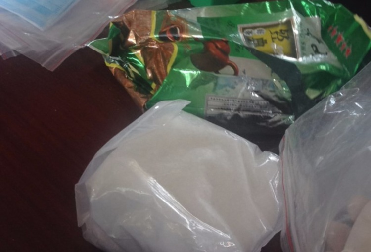Ma tuý đá được cất giấu trong túi nylon đựng chè
