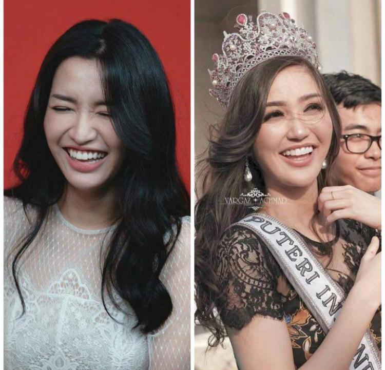 Những hình ảnh Bích Phương và Hoa hậu Hoàn vũ Indonesia 2018 được nhiều người nhận xét là giống nhau.