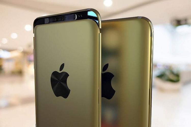 Ở góc quan sát này, có thể thấy chiếc iPhone 9c này có cụm camera ba cảm biến ở mặt lưng.