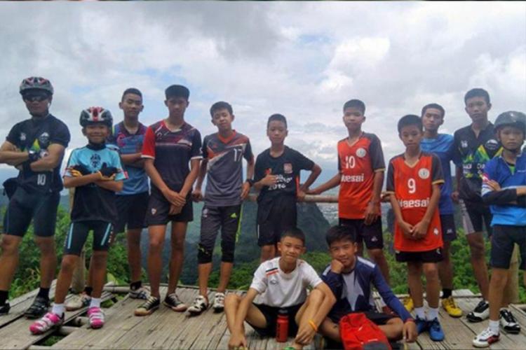 Đội bóng nhí của Thái Lan được mời xem trận chung kết World Cup 2018.Ảnh:THAIBPS