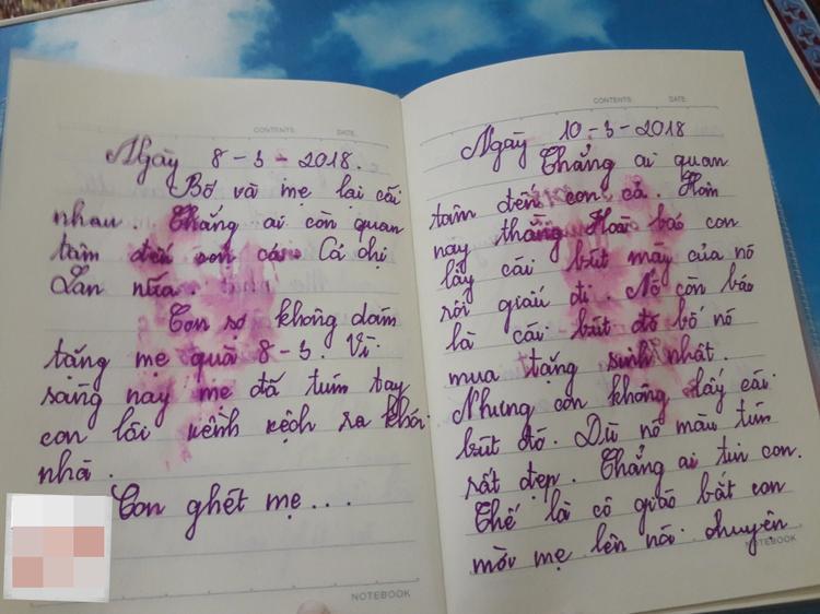 Con không phải là con mẹ, phải không? cuốn nhật ký nhòe nước mắt của bé gái lớp 5 khiến các bậc cha mẹ sững sờ