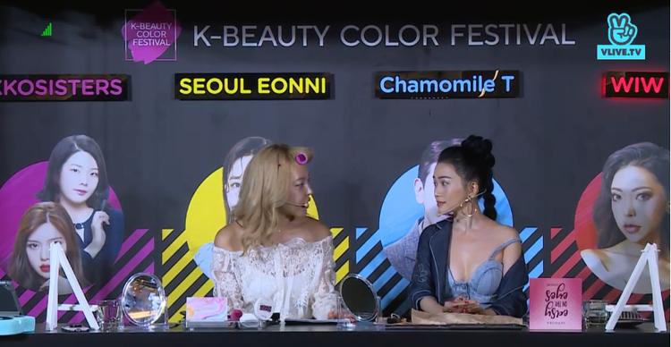 Màn makeup của hai người đẹp khiến khán giả hào hứng.