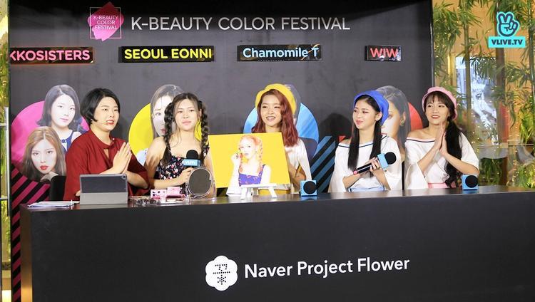 Các Beauty Creator nổi tiếng của Hàn Quốc đã có màn giao lưu, tư vấn làm đẹp với các xu hướng mới nhất cùng khán giả.