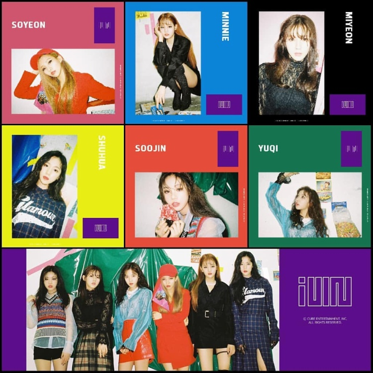 Girlgroup này là một nhóm nhạc đa quốc tịch thực sự khi 3/6 thành viên không phải người Hàn Quốc: Minnie (Thái Lan), Shuahua (Đài Loan) và Yuqi (Trung Quốc).