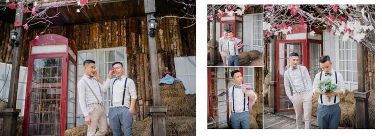 Những nụ hôn, cái ôm tình tứ đã tạo nên câu chuyện tình yêu lãng mạn được cặp đôi thể hiện trong bộ ảnh cưới.