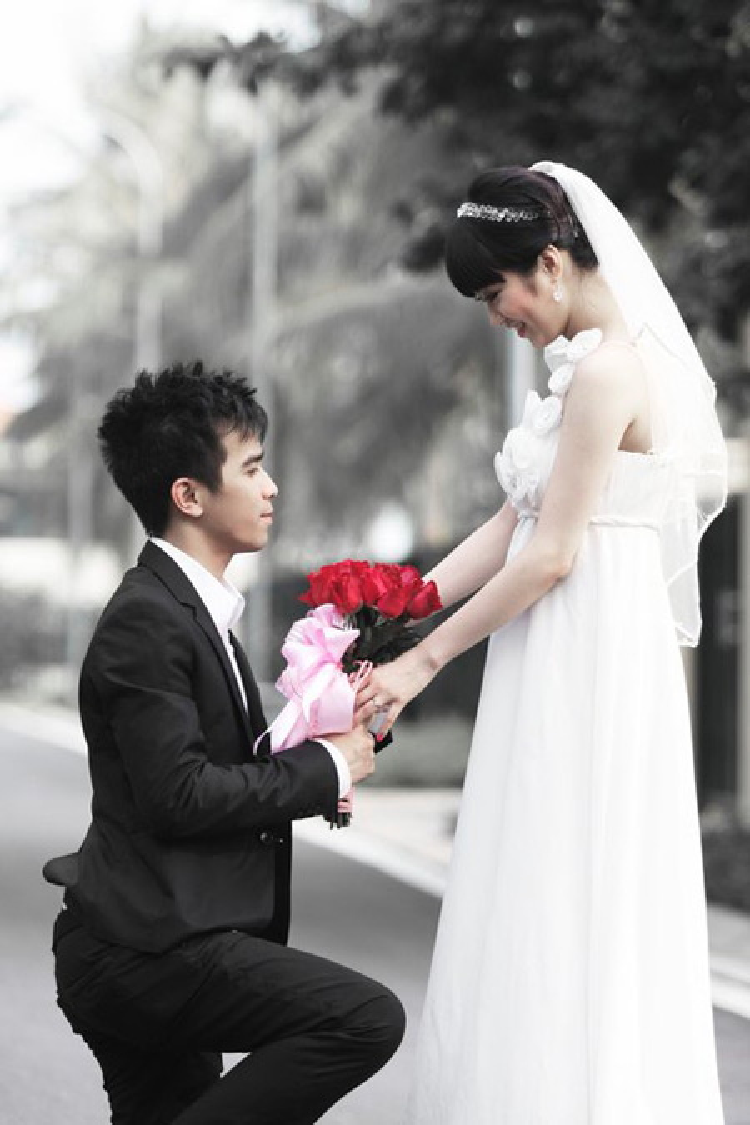 Khoảnh khắc hạnh phúc khi vợ chồng cô còn mặn nồng