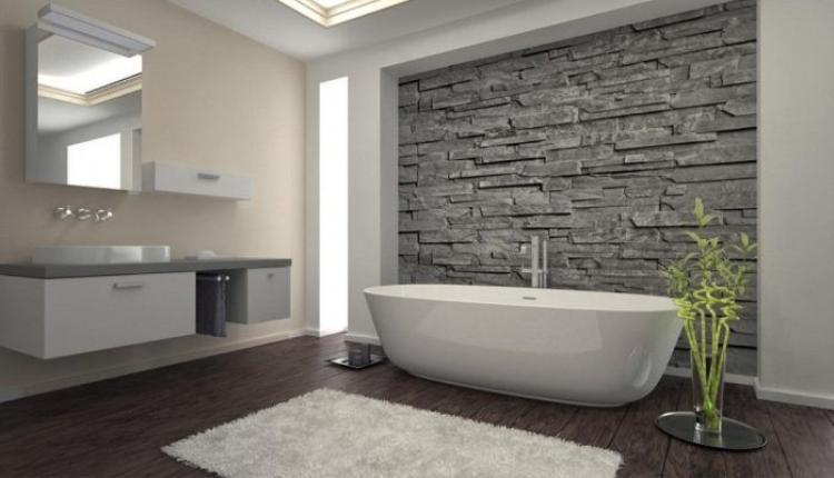 Chiếc bồn tắm không chiếm diện tích rộng trong nhà tắm này nhưng thực sự tôn được tổng thể và cho bạn những phút giây thư giãn tuyệt vời nhé.