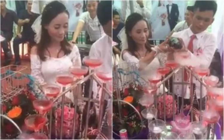 Hình ảnh trong lễ cưới của cặp đôi hơn nhau 11 tuổi ở Nghệ An.