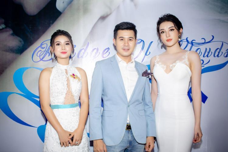 Huyền My rạng rỡ khi hội ngộ hai bạn diễn trong phim làHoa hậu siêu quốc gia Myanmar 2013 và tài tửNay Toe.