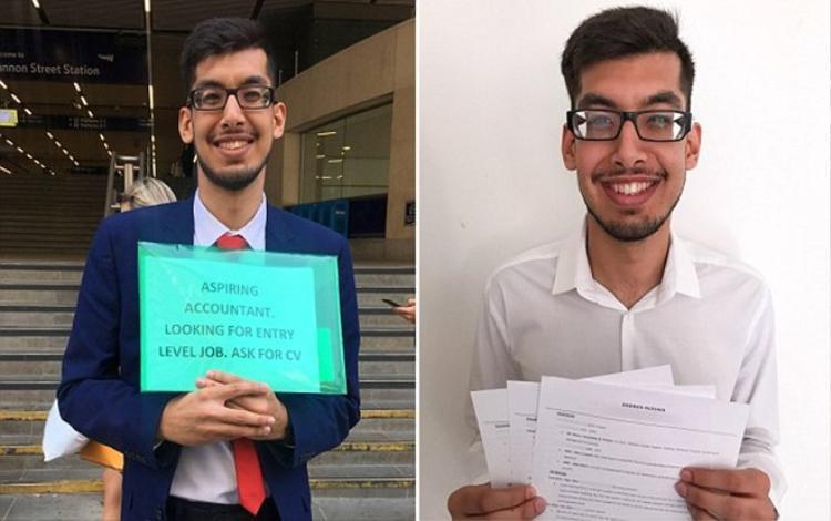 """Kamran Hussain nhận kết quả quá bất ngờ sau hàng tiếng """"rải"""" CV ngoài đường."""