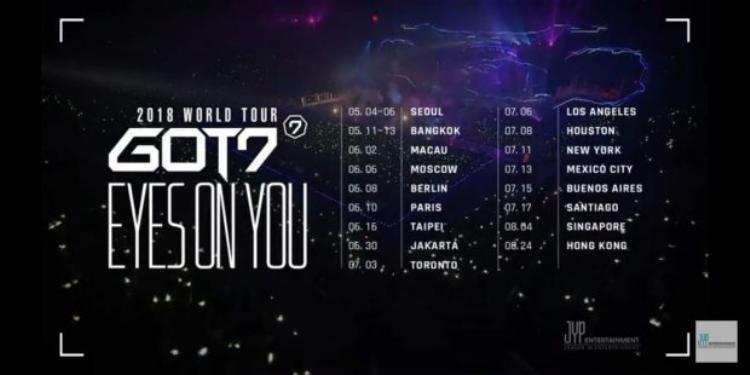 Lịch trình World Tour của GOT7.