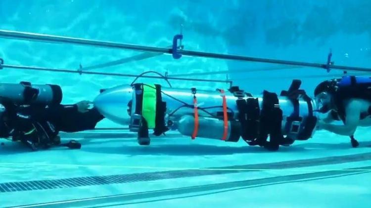 Tàu ngầm mini được Elon Musk mang đến Thái Lan hồi đầu tuần.
