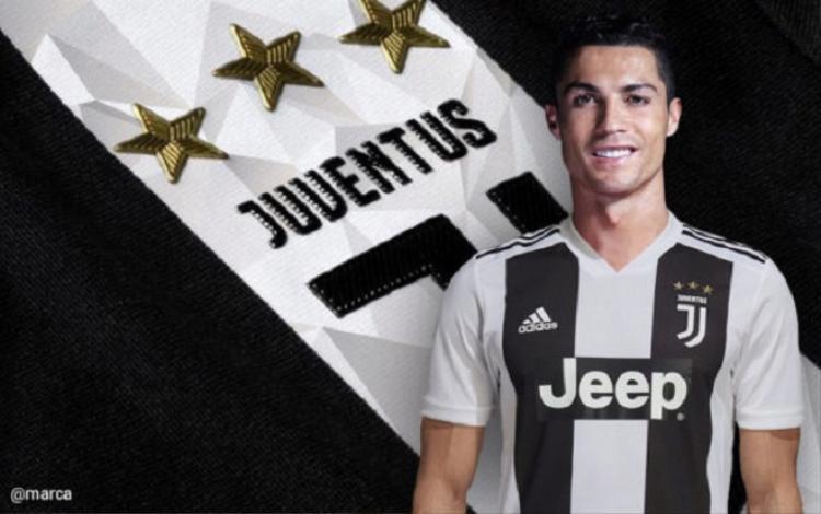 Ronaldo chính thức gia nhập Juventus. Ảnh: Marca.