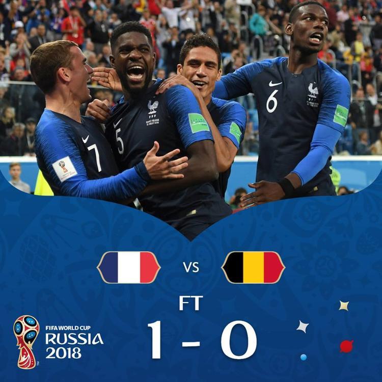 Pháp đã thắng nghẹt thở Bỉ 1-0. Ảnh: FIFA