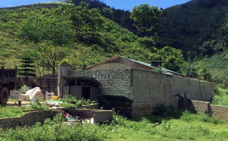 Căn nhà của trùm ma túy Nguyễn Thanh Tuân. Ảnh: Hoàng An.