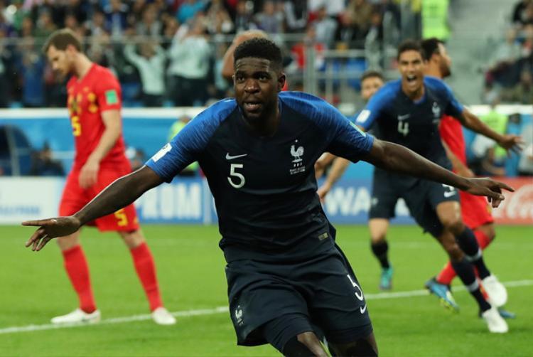 Umtiti trở thành ngôi sao sáng trong trận đấu với Bỉ.
