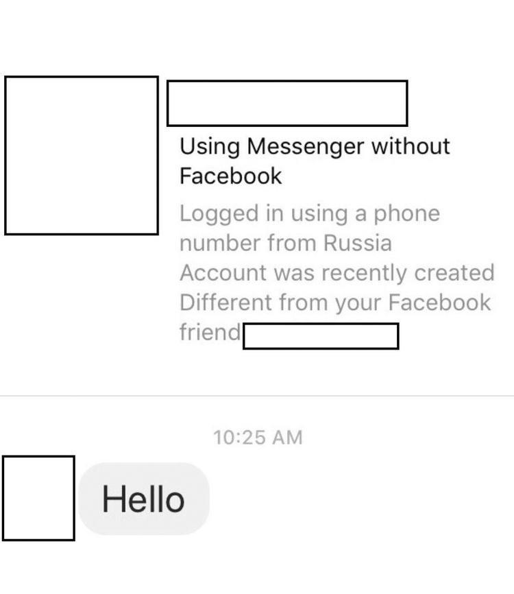 Một số thông tin mà Facebook cung cấp cho bạn nếu nhận được tin nhắn từ người dùng lạ.