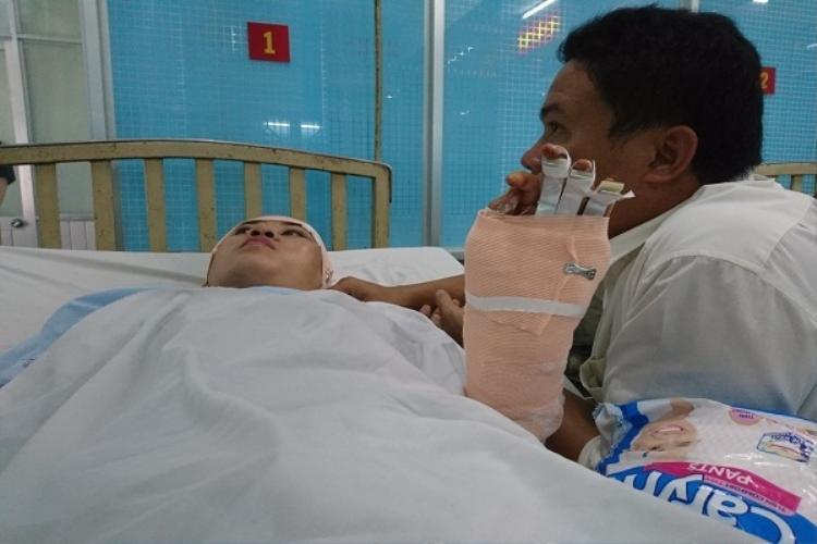 Bệnh nhân Nguyễn Thị Mỹ Châu đang được điều trị tại Bệnh viện Quân y 175 (TP.HCM). Ảnh: Một Thế Giới.