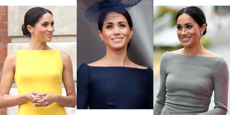 Không nghi ngờ gì nữa, Công nương Meghan Markle đã bỏ bùa cả thế giới với váy cổ thuyền