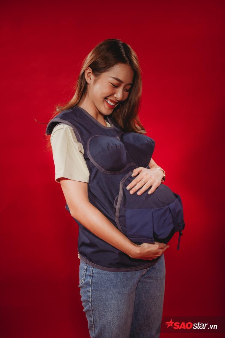 Khả Ngân mong muốn có cơ hội được trải nghiệm cảm giác làm mẹ tại Khi đàn ông mang bầu.