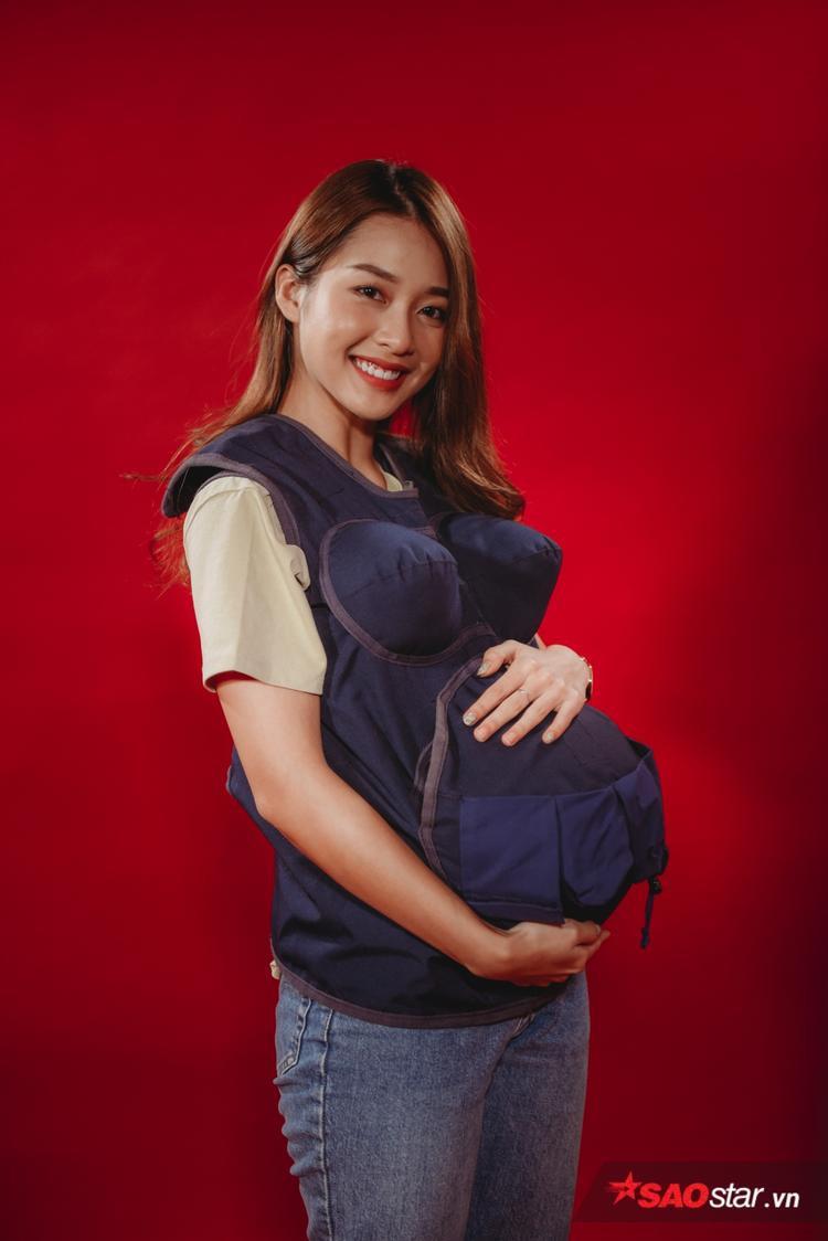 Trải nghiệm áo bầu: Khả Ngân mong muốn được tham gia Manbirth để thử cảm giác làm mẹ