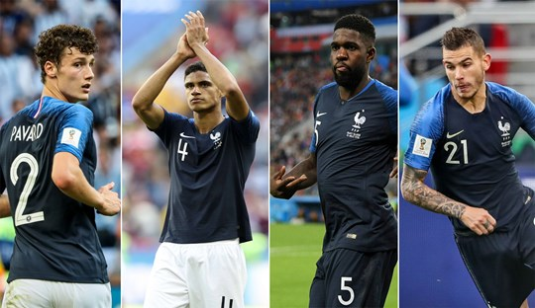 Tại World Cup 2018, Les Bleus đã trình diễn 1 bộ tứ mới tài năng không kém gồm Pavard, Varane, Umtiti và Lucas Hernandez.