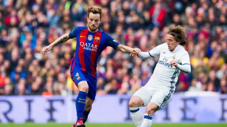 Luka Modric và Ivan Rakitic trong màu áo CLB.