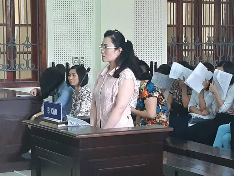 Bị cáo Lam tại phiên tòa.