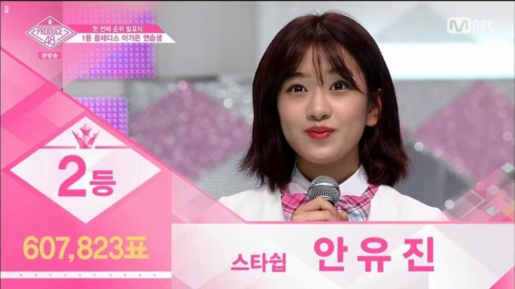 """Hạng 2 - Ah YuJin đến từ Starship Entertainment. Starship có lẽ """"cay cú"""" về việc Sewoon rớt top 11 Produce 101 năm ngoái nên mùa này đã cử đi những thí sinh nặng kí nhất. Wonyoung hạng 3 thì cô bạn cùng công ty - YuJin chiếm vị trí thứ 2. Ah Yujin khiến nhiều người liên tưởng đến Sejeong của Produce 101 Season 1 vì tính cách mạnh mẽ cũng không kém phần lầy lội."""