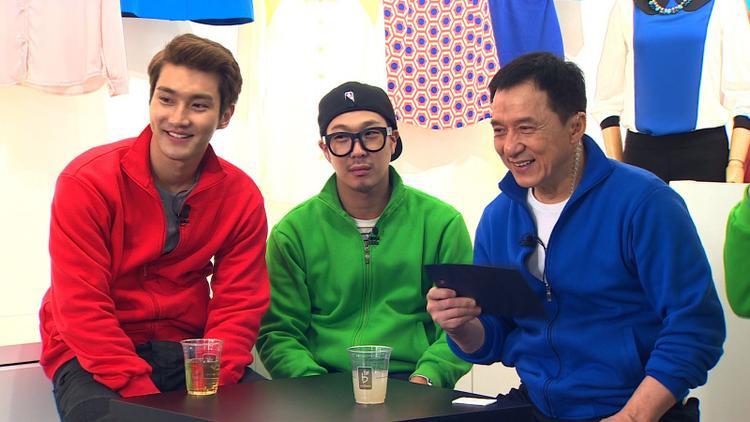 Choi Siwon (Suju), Haha và Thành Long.