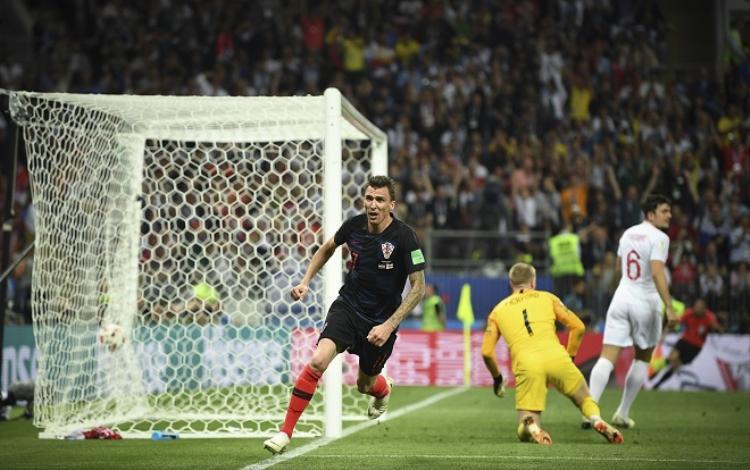 Mandzukic đã khiến người Anh phải ôm hận tại trận bán kết. Ảnh: Fifa.com.