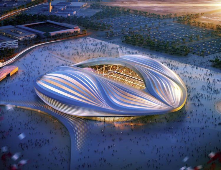 Sân vận động Al Wakrah, một trong những sân vận động World Cup, khi hoàn thiện.