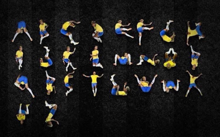 Neymar ăn vạ được chế thành 26 chữ cái.