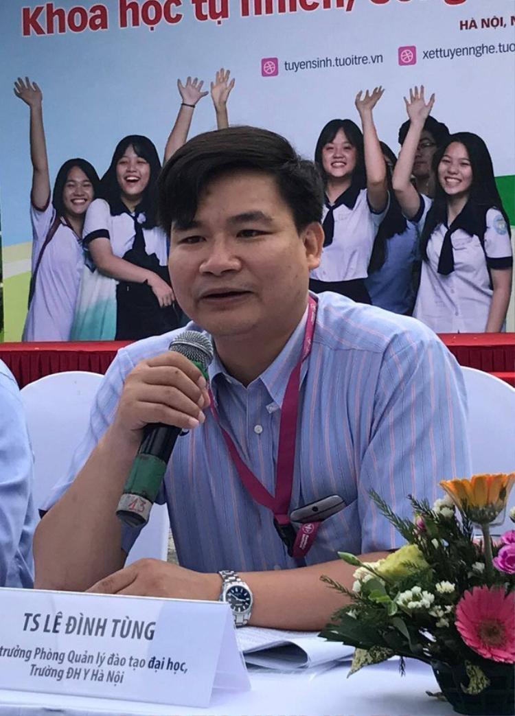 TS Lê Đình Tùng - Trưởng phòng Đào tạo Đại học Y Hà Nội. Ảnh: báo Lao Động.